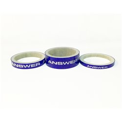 ANSWER Carbon Spacer 3 Pack Blue