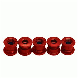 ANSWER Alloy Chain Ring Bolt Kit Red