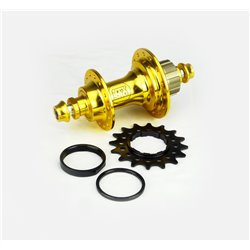 Stay Strong Rear Cassette Hub bolt in 6 pawls Gold  28H