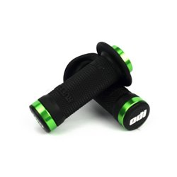 ODI BMX Ruffian Flange Lock on Black Grip 100 mm Green