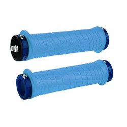 ODI TroyLee Designs No Flange Lock on Grip 130mm Aqua