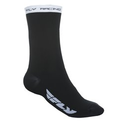 FLY CREW SOCK BLK/WHT