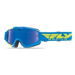 FLY GOGGLE ZONE BLUE/HI-VIS BLUE CHROME/SMOKE LENS