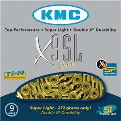 KMC X9SL Super Light 3/32  Gold