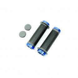 SD mini black lock on grip 115mm with flange, lockrings Blue