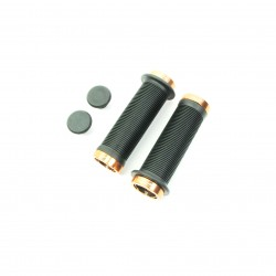 SD mini black lock on grip 115mm with flange, lockrings Orange