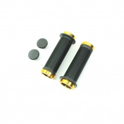 SD mini black lock on grip 115mm with flange, lockrings Gold