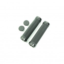 SD bmx/mtb black lock on grip 130mm without flange, lockrings Black