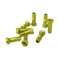 Universal alloy spoke nipple 14g 16mm Lime