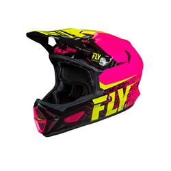FLY Werx Imprint 2019 Mips Carbon Helmet Pink/Hi-Vis