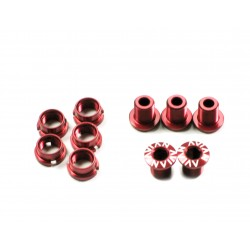 Avian Alloy Chainring Bolts Short Red