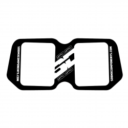 SD Sideplate Black / White