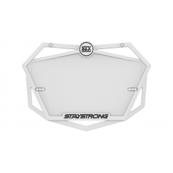 Stay Strong Plate White