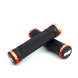 ODI MTB Ruffian Flange Lock on MEYBO Grip Orange  130 Mm