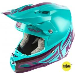 Fly F2 2019 Carbon Mips MX Helmet Shield Seafoam/Port