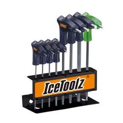 IceToolz Inbussleutels 7M85, Twinhead, zwart