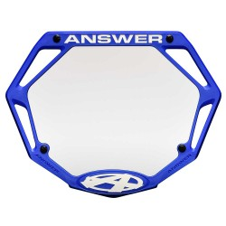 Answer 3D Number Plate Blue