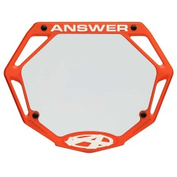 Answer 3D Number Plate Orange