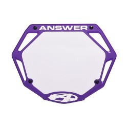 Answer 3D Number Plate Purple