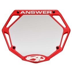 Answer 3D Number Plate Red
