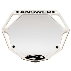 Answer 3D Number Plate White