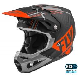 FLY Formula Vector Helmet Orange/Grey/Black Carbon