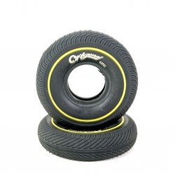 Wildcat Mini BMX Tire Black/Yellow Line