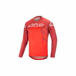 ALPINESTARS RACER V2 LS JERSEY BURGUNDY BRIGHT RED WHITE