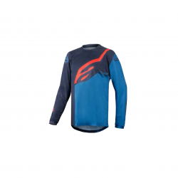 ALPINESTARS YOUTH RACER FACTORY LS JERSEY DARK NAVY MID BLUE RED