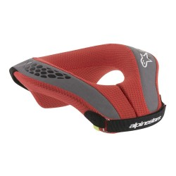 ALPINESTARS  SEQUENCE YOUTH NECK ROLL ANTHRACITE BRIGHT RED
