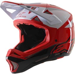 ALPINESTARS MISSILE PRO COSMOS - CE EN RED WHITE GLOSSY