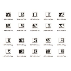 SD Front + 2 Side Plate Numbers kit (Pack of: 10x all Black, 5x all white (150 total))