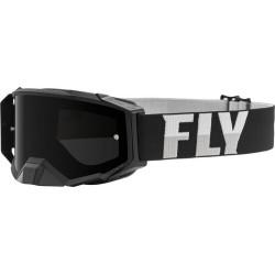 Fly Zone Pro Goggle 2021 Black/White W/Dark Smoke Lens W/Post