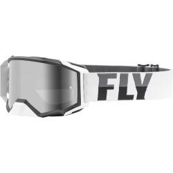 Fly Zone Pro Goggle 2021 White/Black W/Dark Smoke Lens W/Post