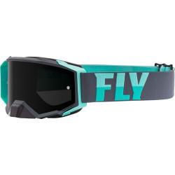 Fly Zone Pro Goggle 2021 Grey/Mint W/Dark Smoke Lens W/Post