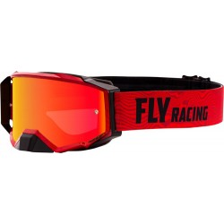 Fly Zone Pro Goggle 2021 Red/Black W/Red Mirror/Amber Lens W/Post