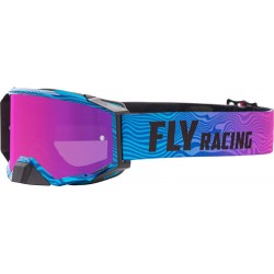 Fly Zone Pro Goggle 2021 Pink/Blue W/Pink Mir/Smoke Lens W/Post