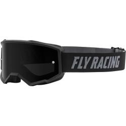Fly Zone Goggle 2021 Black W/Dark Smoke Lens W/Post