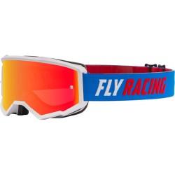 Fly Zone Goggle 2021 Blue/White/Red W/Red Mirror/Smoke Lens W/Post
