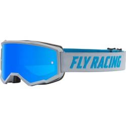 Fly Zone Goggle 2021 Grey/Blue W/Sky Blue Mir/Smk Lens W/Post