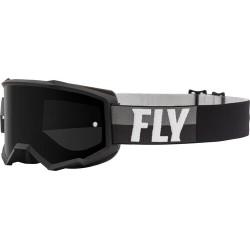 Fly Zone Goggle 2021 Black/White W/Dark Smoke Lens W/Post