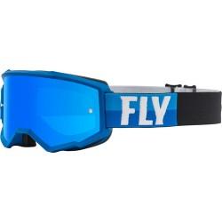 Fly Zone Goggle 2021 Blue/Black W/Sky Blue Mir/Smk Lens W/Post