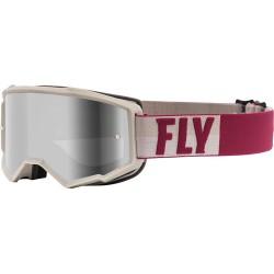 Fly Zone Goggle 2021 Stone/Berry W/Silver Mir/Smoke Lens W/Post