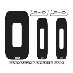 SD Front + 2 Side plate numbers and SD logo sticker V2.0 kit nr Black