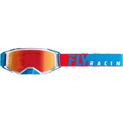 Fly Zone Pro Goggle Red/White/Blue W/Red Mirror Lens
