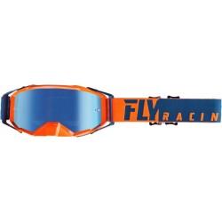 FlyZone Pro Goggle Orange/Blue W/Blue Mirror Lens