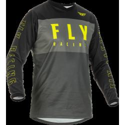Fly F-16 Jersey 2022 Grey/Black/Hi-Vis