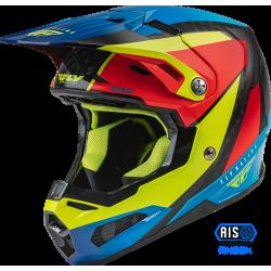 Fly Formula Carbon Prime Helmet 2022 Hi-Vis/Blue/Red