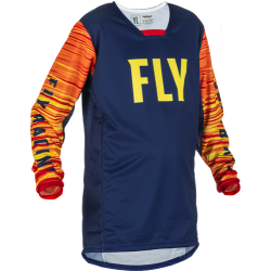 Fly Kinetic Wave Jersey 2022Navy/Yellow/Red