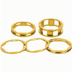 Box One stem spacer Kit X 10, 5, 3,1(2pcs)mm  Gold